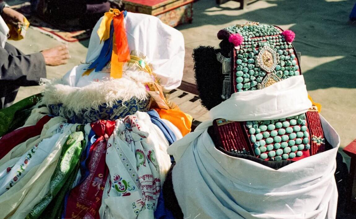 Traditional Zanskari Wedding - Perakh headdress