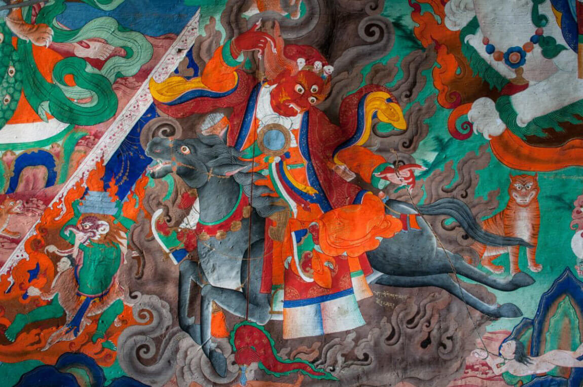 Buddhist painting, Dzongkul Gompa
