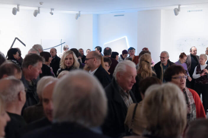 Zdeněk Sýkora exhibition opening