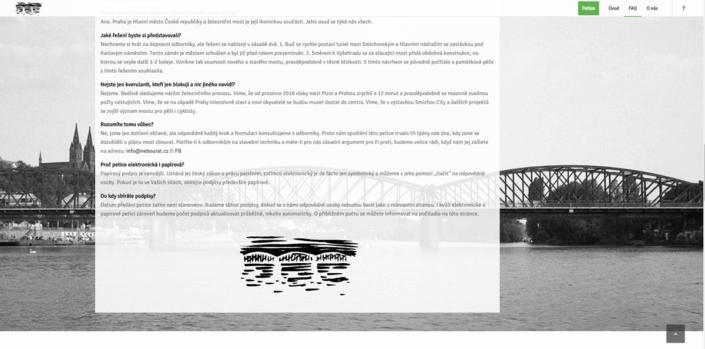 Web k petici nebourat.cz