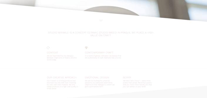 Designový web studiowrinkle.com