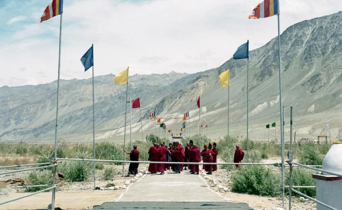 Buddhist gathering