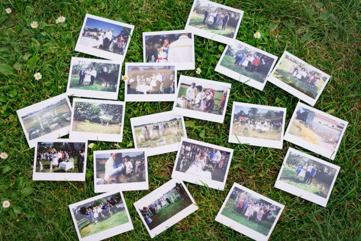 Svatební fotografie - polaroidy