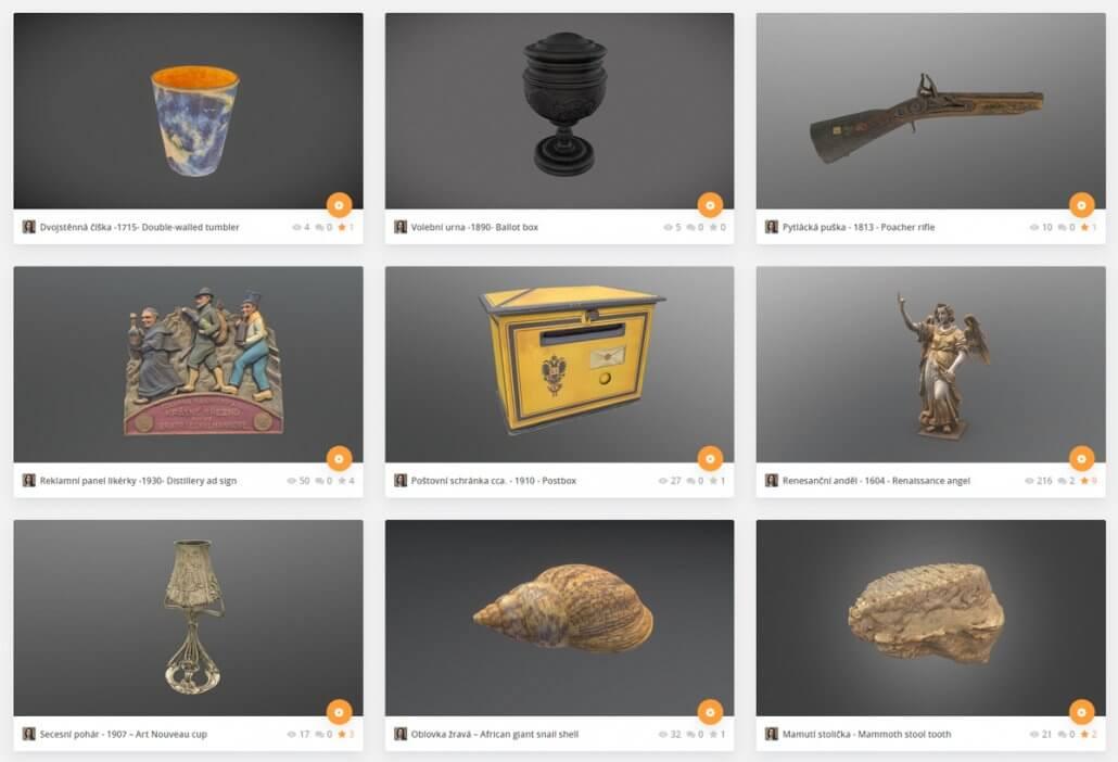 3D modely pro Muzeum | Museum items 3D models