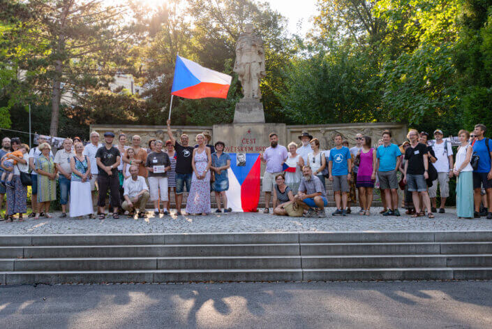 """Milion Chvilek pro Demokracii"" protest gathering in Ústí nad Labem report"