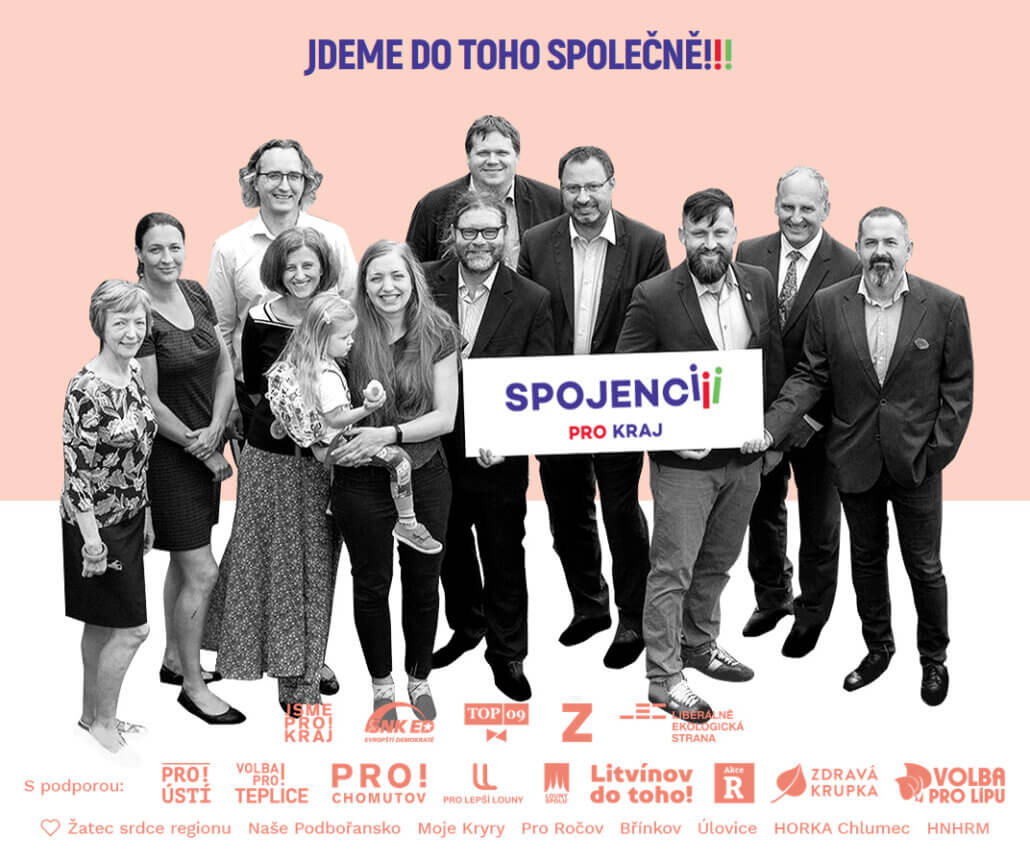 """Spojenci pro kraj"" local political union reports and portraits"